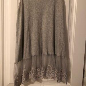 Gray sleeveless slip dress